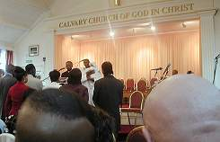 The Christening at the Pentecostal Church in Brockly
